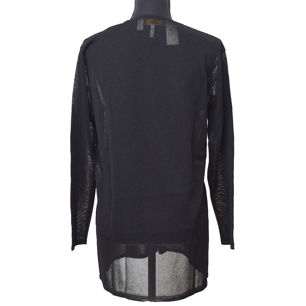 FENDI Long Sleeve Tops Mesh Shirt Black