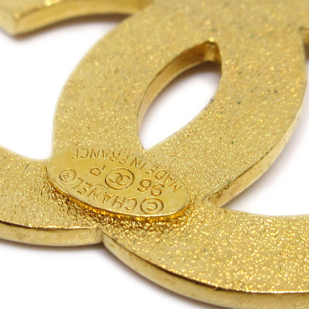 CHANEL Medallion Brooch Pin Gold 96P