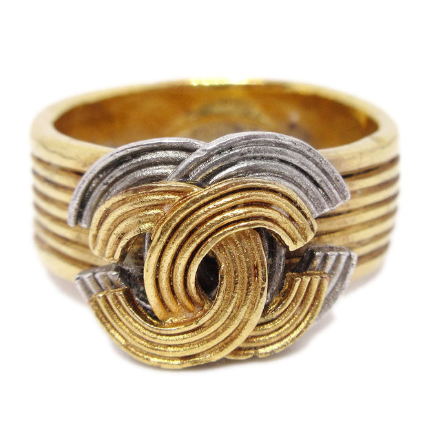 CHANEL Ring Gold Size 8 00A