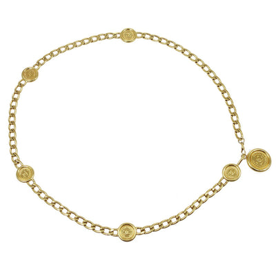 CHANEL Medallion Charm Gold Chain Belt