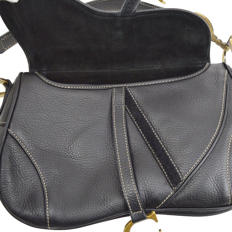 Christian Dior Saddle Hand Bag Black