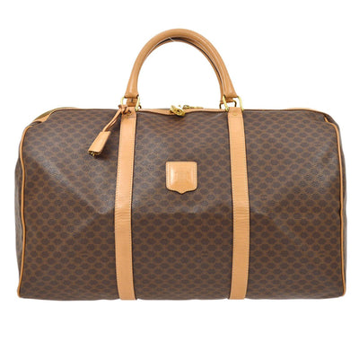CELINE Macadam Travel Hand Bag Brown