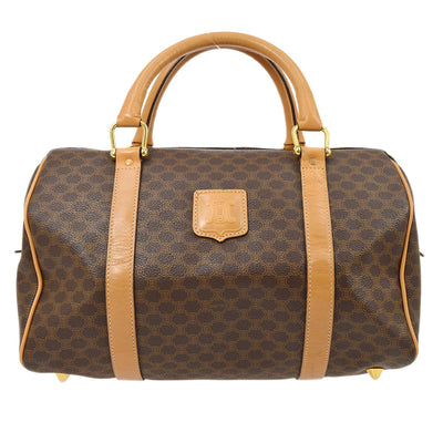 CELINE Macadam Boston Hand Bag Brown