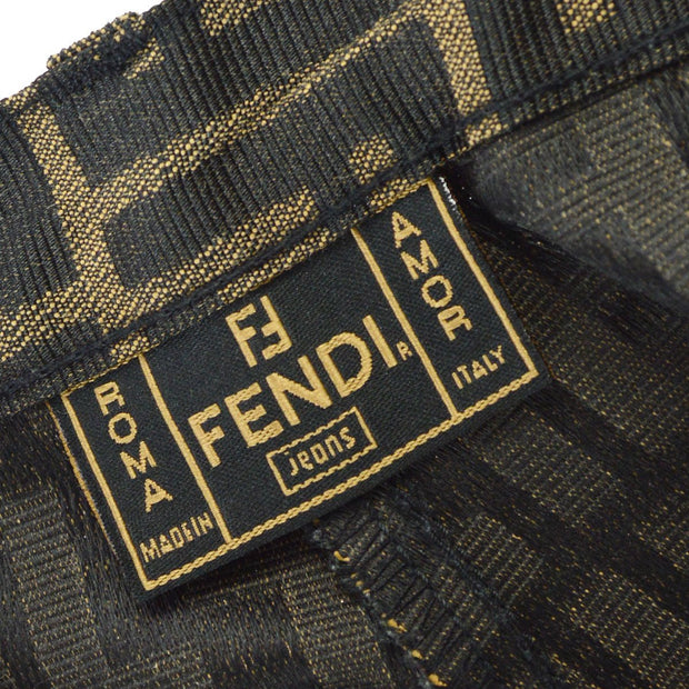 FENDI Zucca Pattern Below The Knee Pants Brown