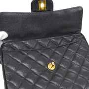 CHANEL Chain Shoulder Bag Black Caviar Skin