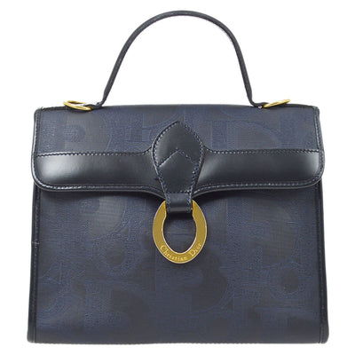 Christian Dior Trotter Hand Bag Navy