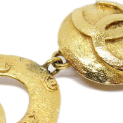 CHANEL Shaking Hoop Earrings Gold 29