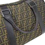 FENDI Zucca Pattern Travel Hand Bag Brown