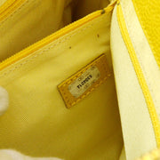 CHANEL Chain Shoulder Tote Bag Yellow Caviar skin