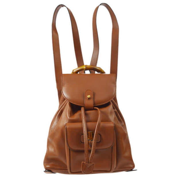 GUCCI Bamboo Backpack Brown