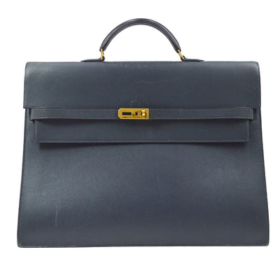 HERMES KELLY DEPECHE 38 Business Bag Mens Courchevel