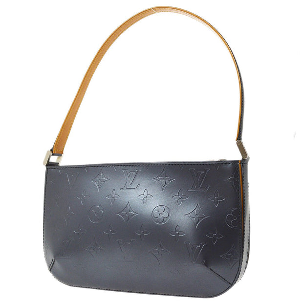 LOUIS VUITTON FOWLER HAND BAG BLUE MONOGRAM MAT M55145
