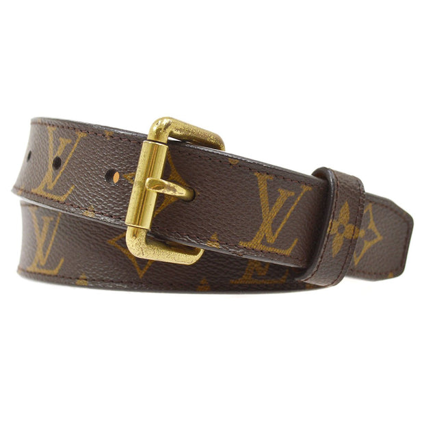LOUIS VUITTON CEINTURE POCHE DUO BELT MONOGRAM M9836S #80/32