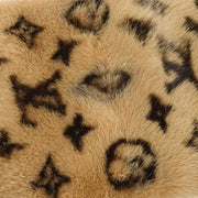 LOUIS VUITTON ECHARPE MINK FUR STOLE M70646 BROWN MONOGRAM