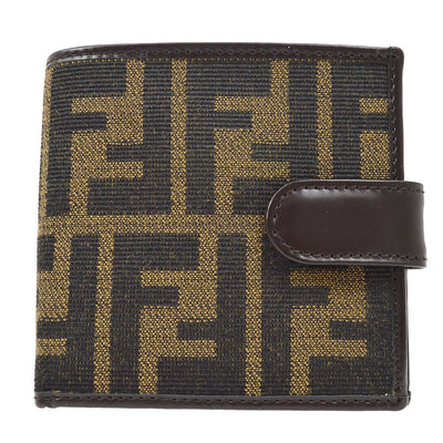 FENDI Zucca Pattern Bifold Wallet Brown
