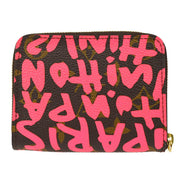LOUIS VUITTON MONOGRAM GRAFFITI ZIPPY COIN PURSE WALLET M93707