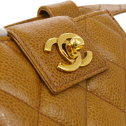 CHANEL Waist Bum Bag Pouch Brown Caviar