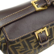FENDI Zucca Pattern Hand Bag Brown