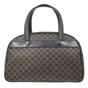 CELINE Macadam Pattern Hand Bag Black
