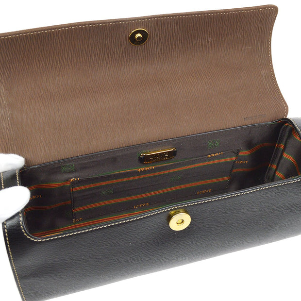 LOEWE VELAZQUEZ Hand Bag Black Brown