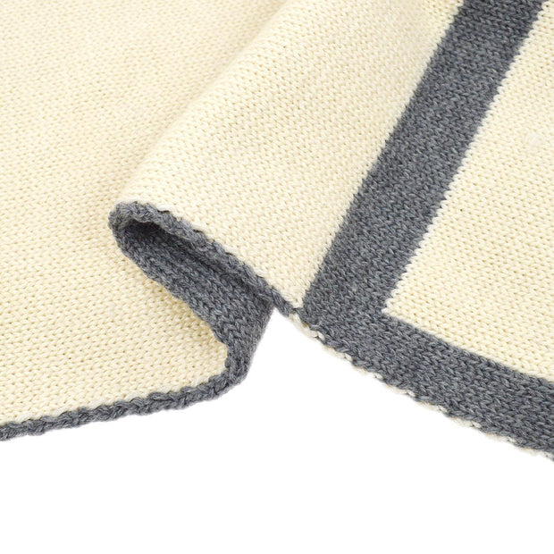 CHANEL Sports Line Muffler Stole Ivory