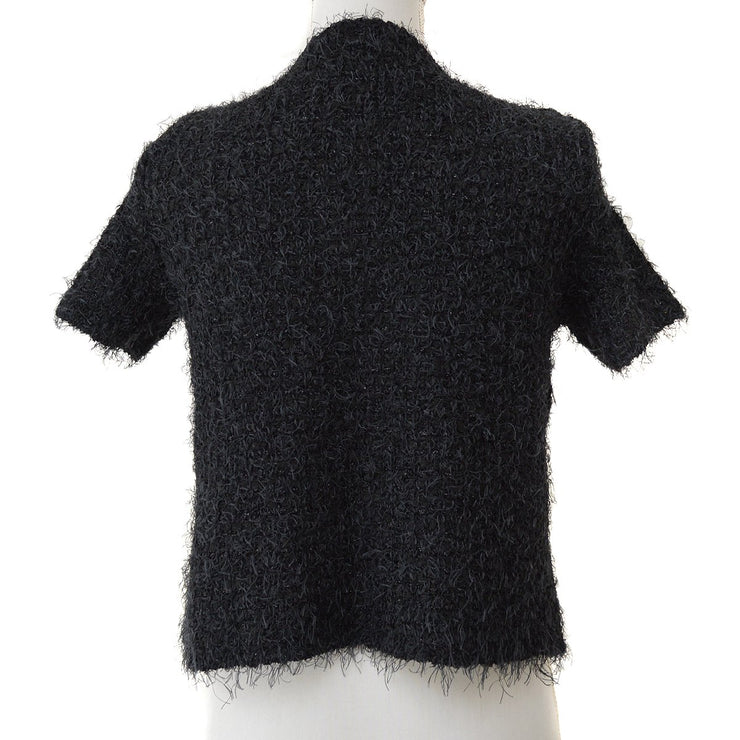 CHANEL 99P #40 Short Sleeve Tops Cardigan Black