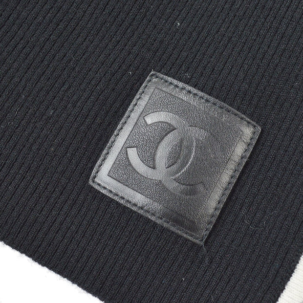 CHANEL 04A #38 CC Sport Line Short Sleeve Knit Tops Black
