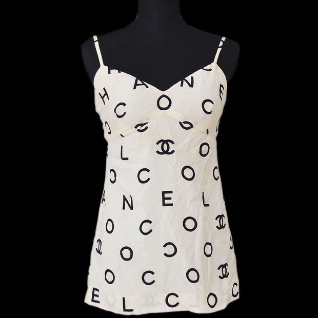 CHANEL 97P #38 Sleeveless Camisole Tops Ivory