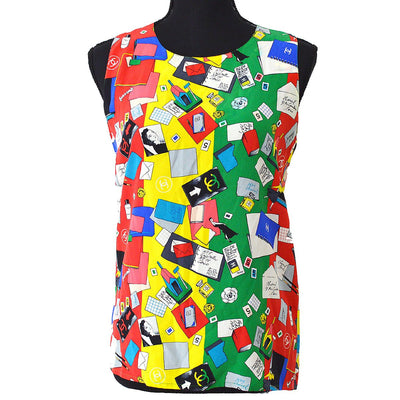 CHANEL Sleeveless Tops Shirt Multi-color
