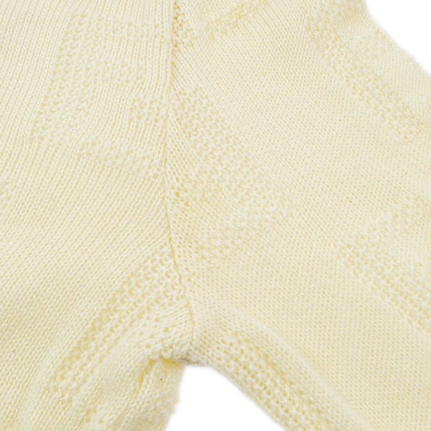 FENDI Zucca Long Sleeve Knit Tops Ivory