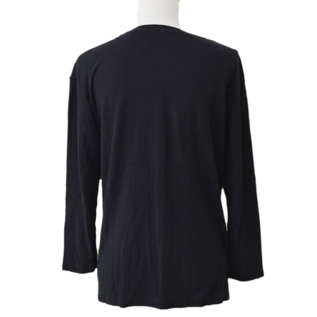 FENDI Long Sleeve Tops Shirt Black