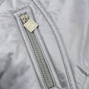 CHANEL 04A #42 Sports Line Long Sleeve Over Coat Jacket Silver