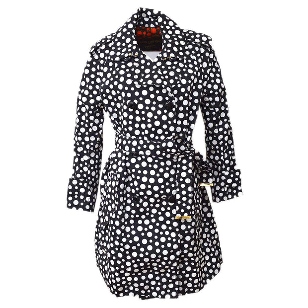 LOUIS VUITTON #40 Dots infinity Long Sleeves Coat Jacket Black