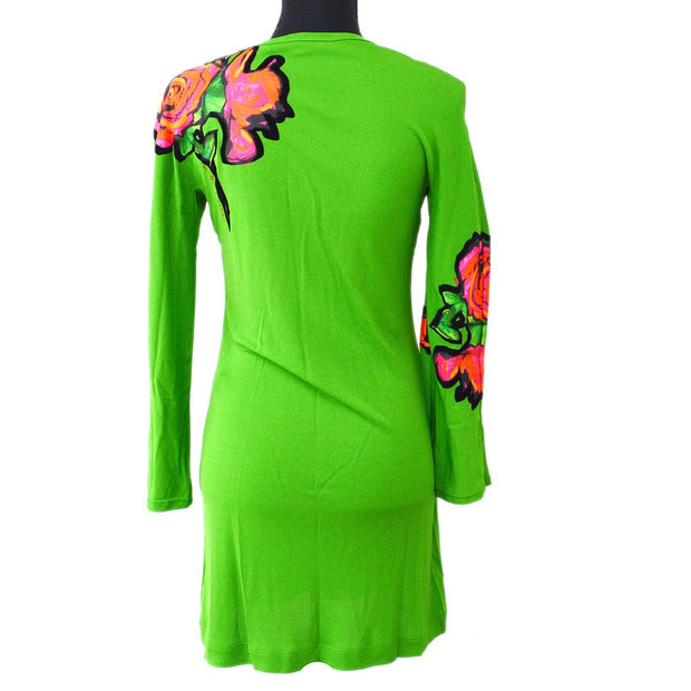 LOUIS VUITTON #36 Rose Long Sleeve Onepiece Dress Green