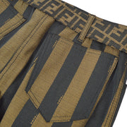 FENDI Pequin Belted Skirt Brown