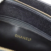CHANEL V Stitches Hand Tote Bag Black Caviar