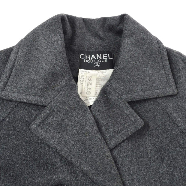 CHANEL Coat Gray #38