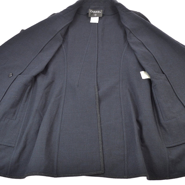 CHANEL #42 Double Breasted Coat Jacket Gray