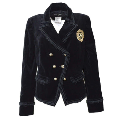 CHANEL RARE Coat Jacket Black 40