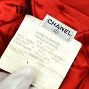 CHANEL CC Logos Button Long Sleeve Jacket Red