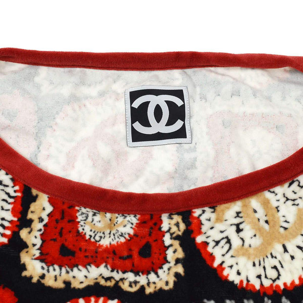 CHANEL One Piece Dress Red Black #44