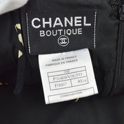 CHANEL CC Sleeveless One Piece Camisole Dress Skirt Black