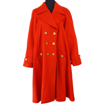 CHANEL 94A #38 Coat Red