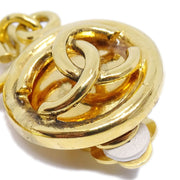 CHANEL Shaking Hoop Earrings Gold 2926