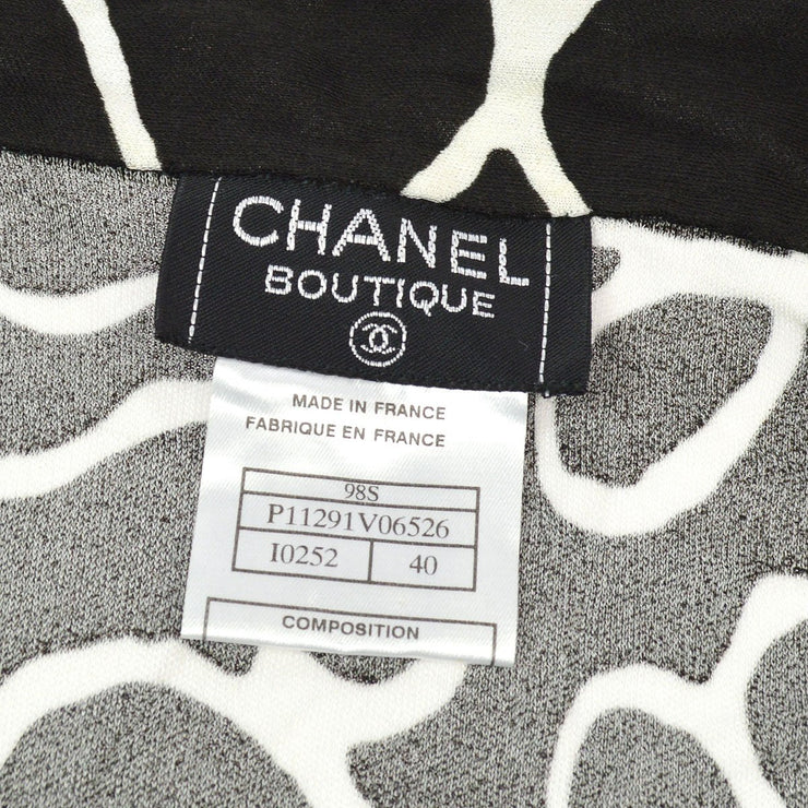 CHANEL 98S #40 Short Sleeve Setup Shirt Pants Black
