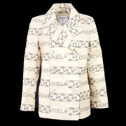 CHANEL 01A #36 Double Breasted Jacket Beige
