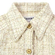 CHANEL 01P #36 Tweed Jacket White