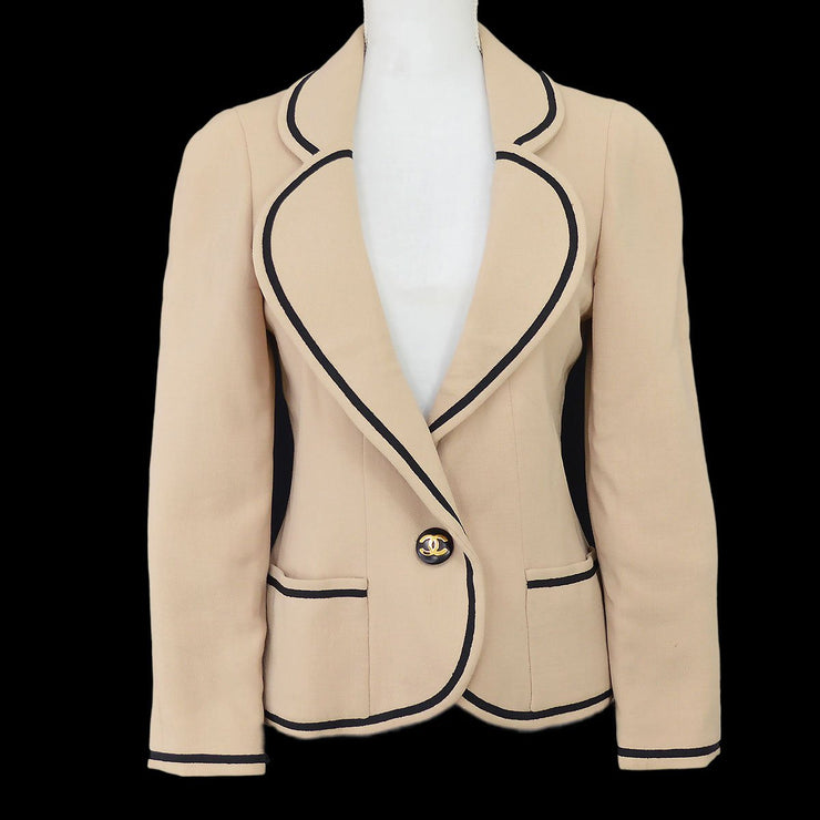 CHANEL 24 #36 Long Sleeve Jacket Beige