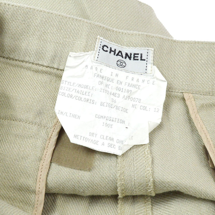 CHANEL #36 Half Pants Beige