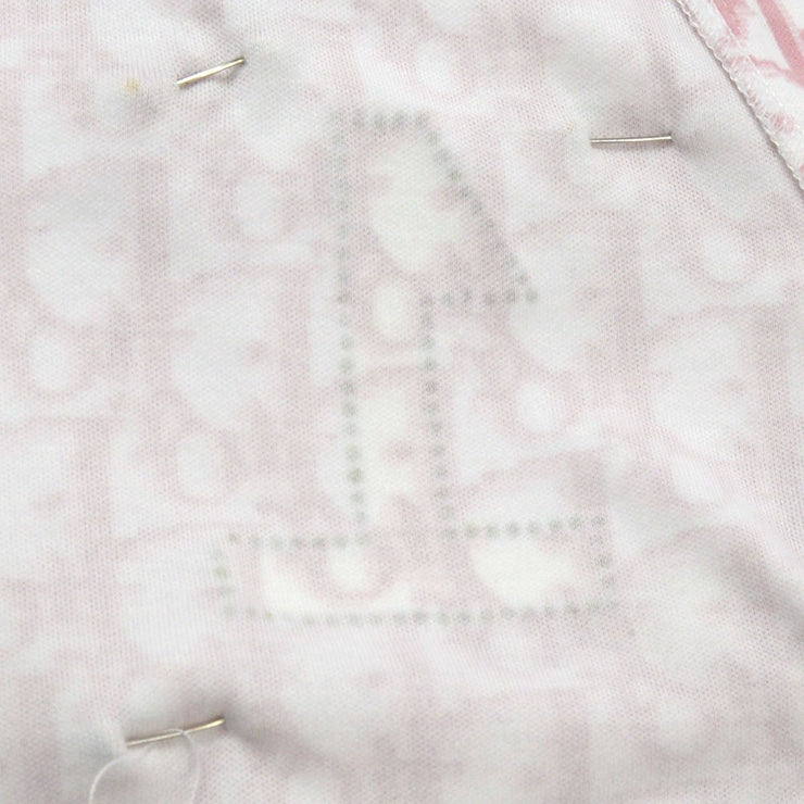 Christian Dior With a brooch Trotter Sleeveless Shirt Tops Pink